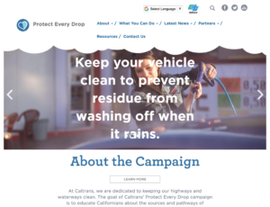 Caltrans - Protect Every Drop